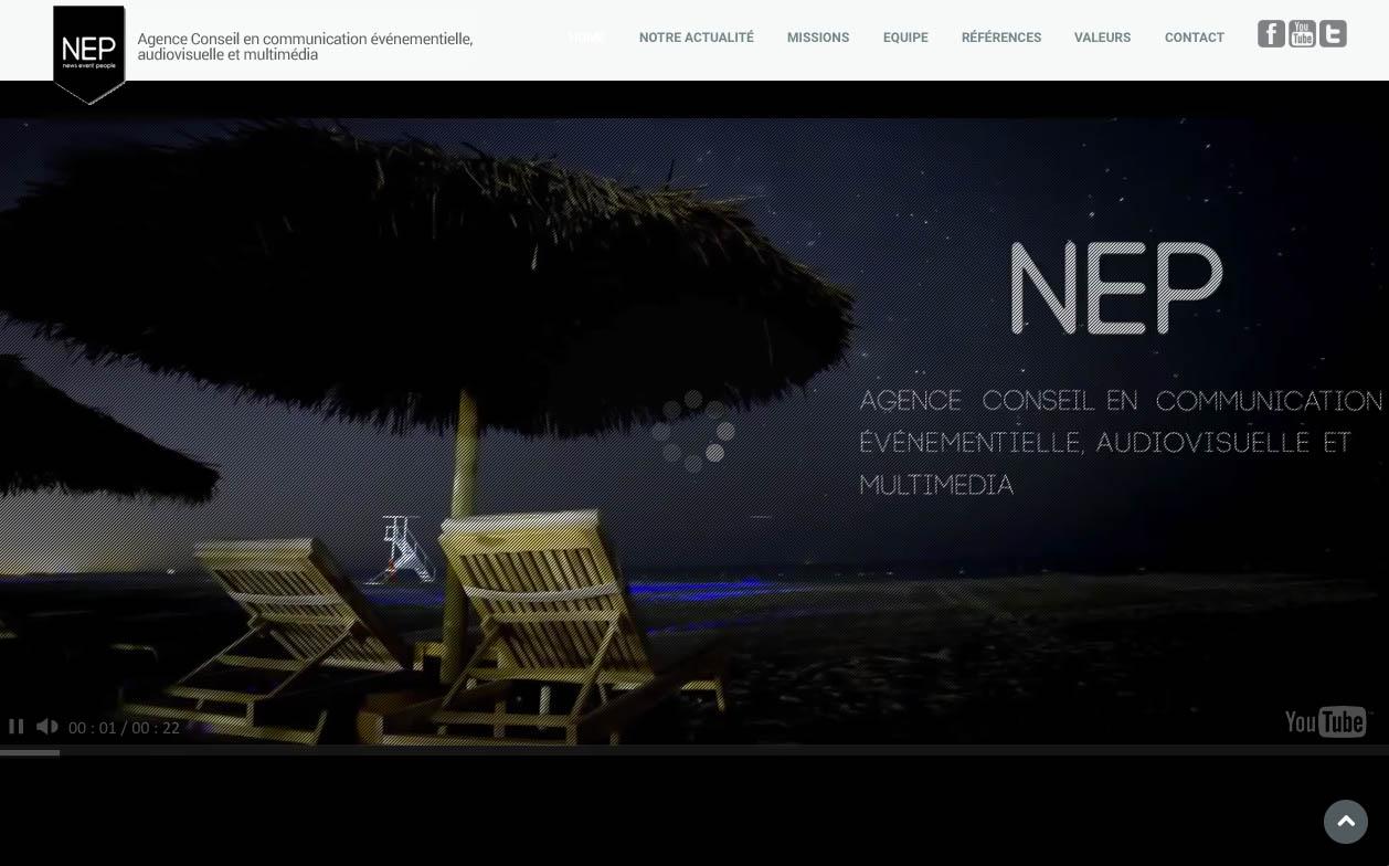 La home page création Sakkamoto