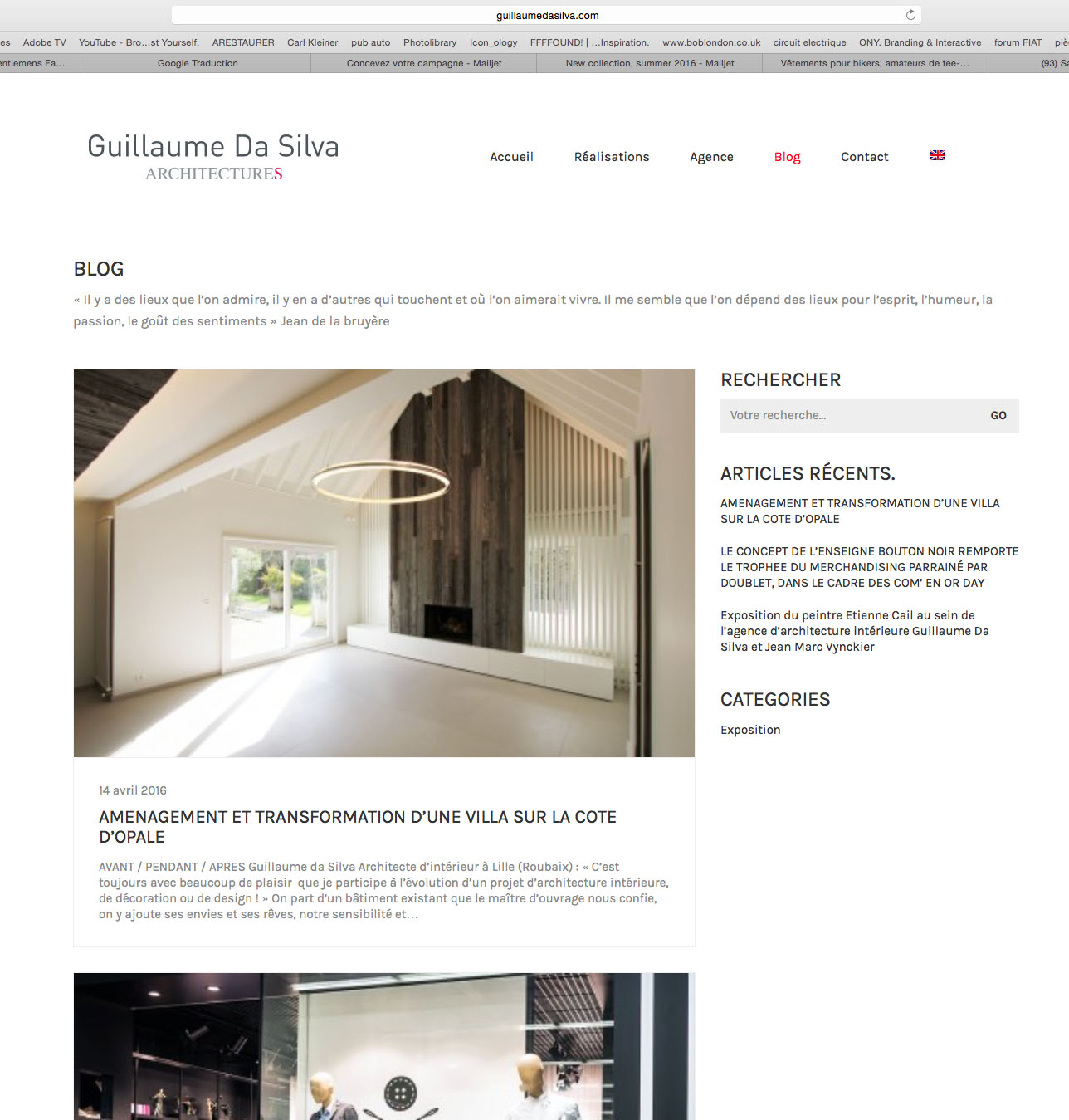 le site web de guillaume da silva une architecture responsive vive la r clame. Black Bedroom Furniture Sets. Home Design Ideas