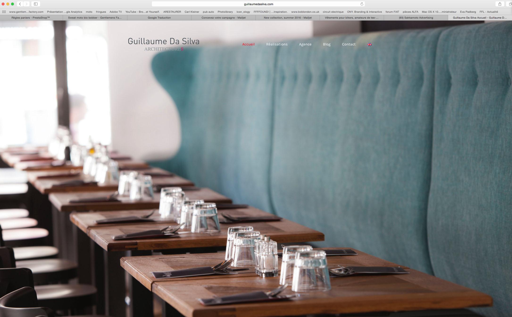Le site web de guillaume da silva une architecture responsive