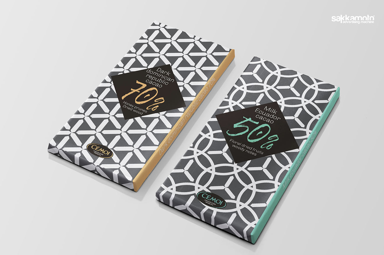 Création de packaging Tablettes de chocolat pour le marché américain - Sakkamoto