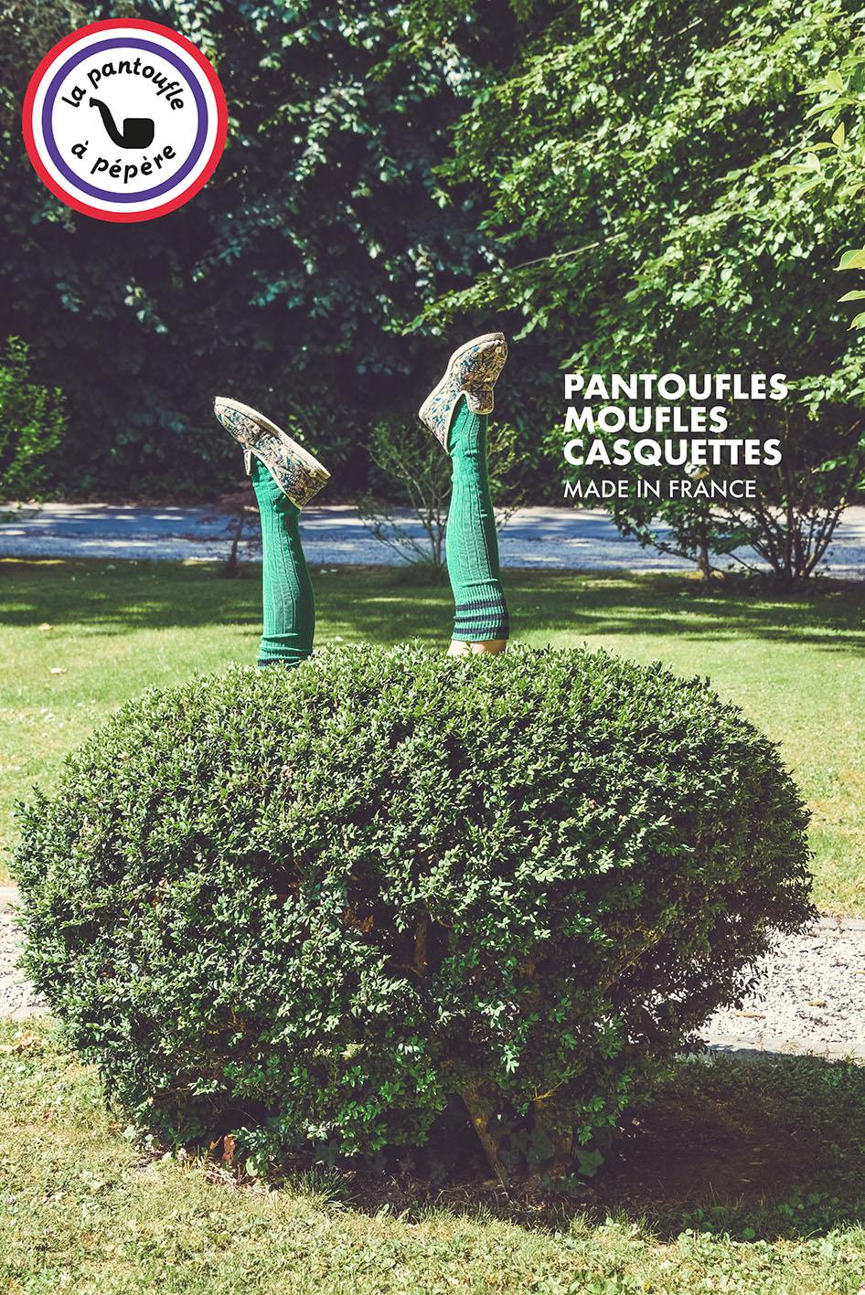 Campagne La Pantoufle à pépère par sakkamoto / DA et Photos Laurent Scavone. Campagne promotionnelle Lille, création de contenu pour les marques et Community management