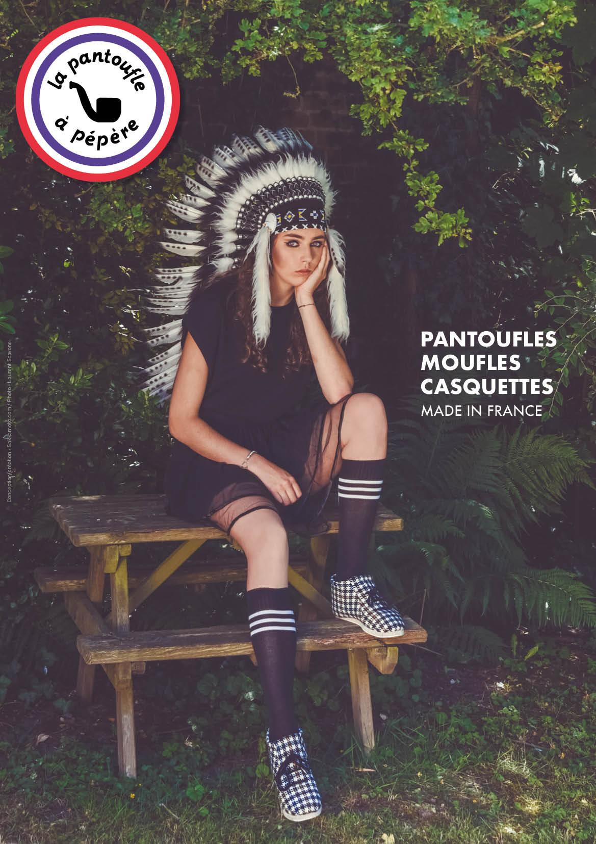 Campagne La Pantoufle à pépère par sakkamoto / DA et Photos Laurent Scavone
