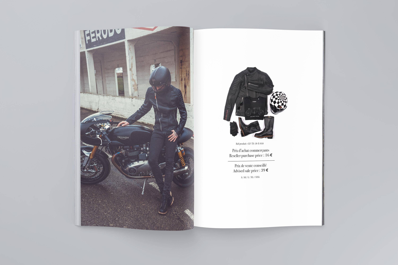 Brochure commerciale - Gentlemen's Factory - création Sakkamoto. Agence de communication et création de contenu, l'agence est située à Lille et spécialisé dans le positionnement de marque.
