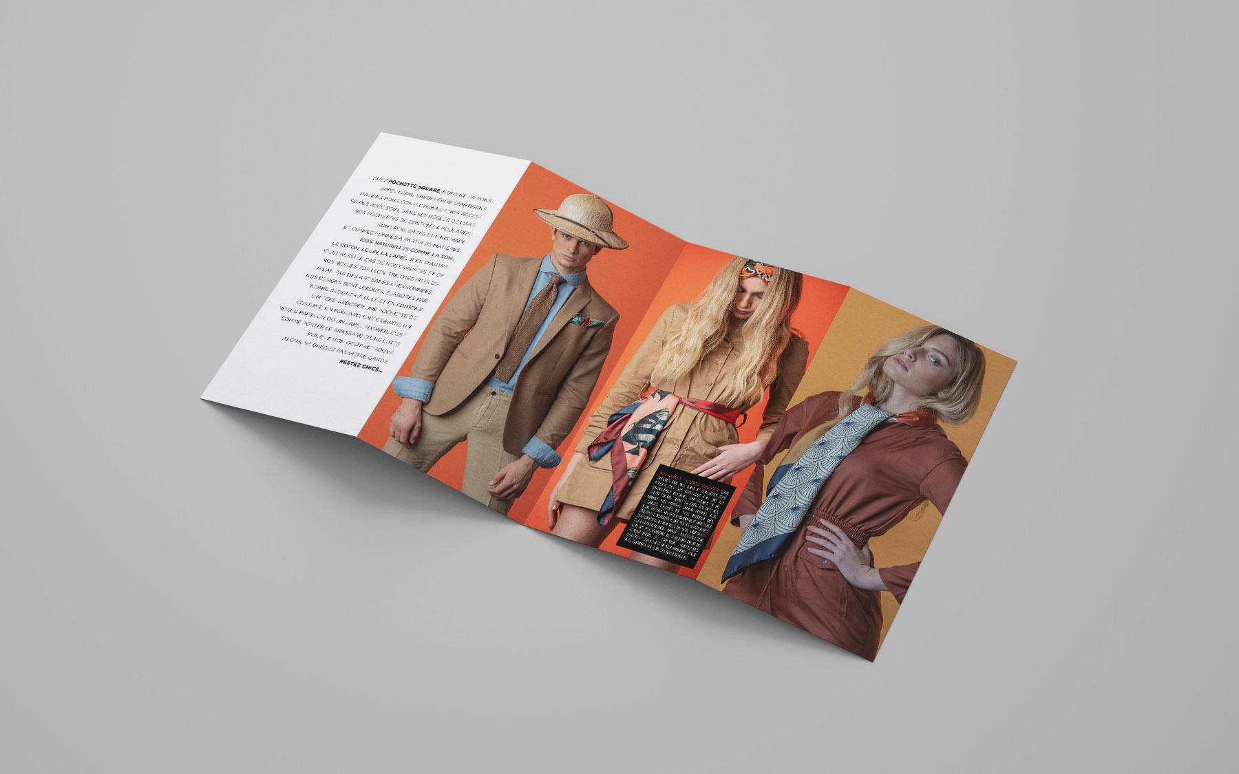 Création de contenu, photos de mode, photos produits réalisés à Lille pour Pochette Square par le photographe Lillois Laurent Scavone. Conception, création et direction artistique réalisation par l'agence de communication Lilloise Sakkamoto.