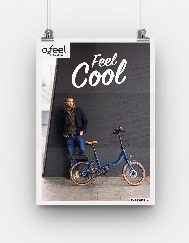 Création de contenu et communication pour 02feel une marque française de vélos électriques. Campagne de communication par Sakkamoto agence de communication et de brand content Lilloise.